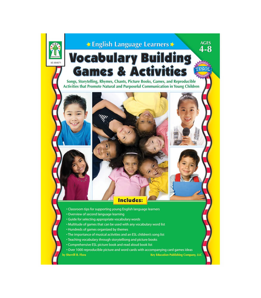 English Language Learners: Vocabulary Building Games & Activities Resource Book Product Image