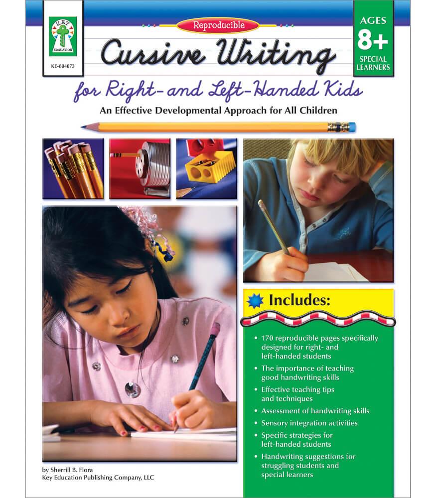 cursive writing for right left handed kids resource book grade 3 7. Black Bedroom Furniture Sets. Home Design Ideas