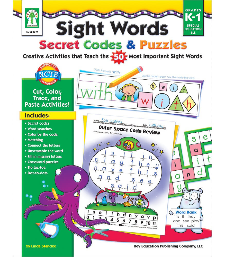 Sight Words Secret Codes & Puzzles Resource Book Product Image