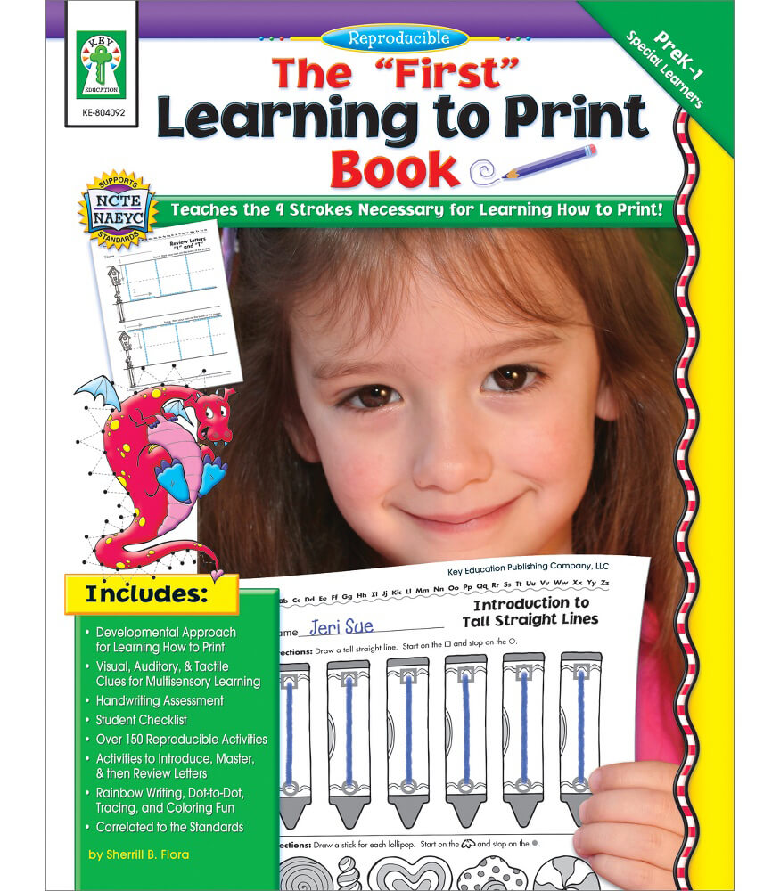 """The """"First"""" Learning to Print Book Resource Book Product Image"""
