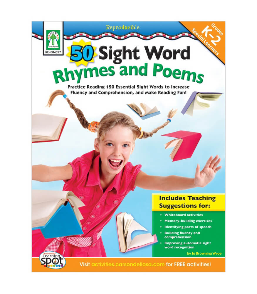50 Sight Word Rhymes and Poems Resource Book Product Image