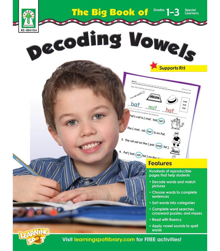 The Big Book of Decoding Vowels Resource Book Product Image