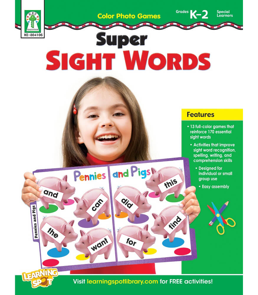Color Photo Games: Super Sight Words Resource Book Product Image