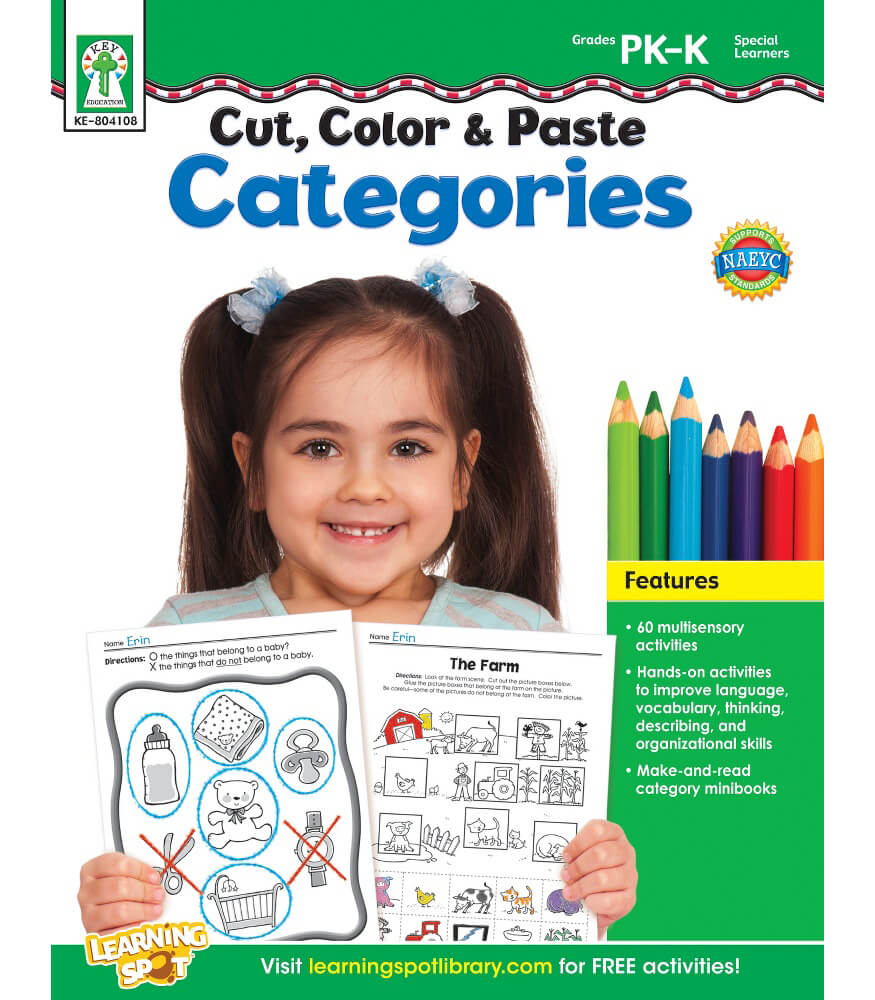 Cut, Color & Paste Categories Resource Book Product Image