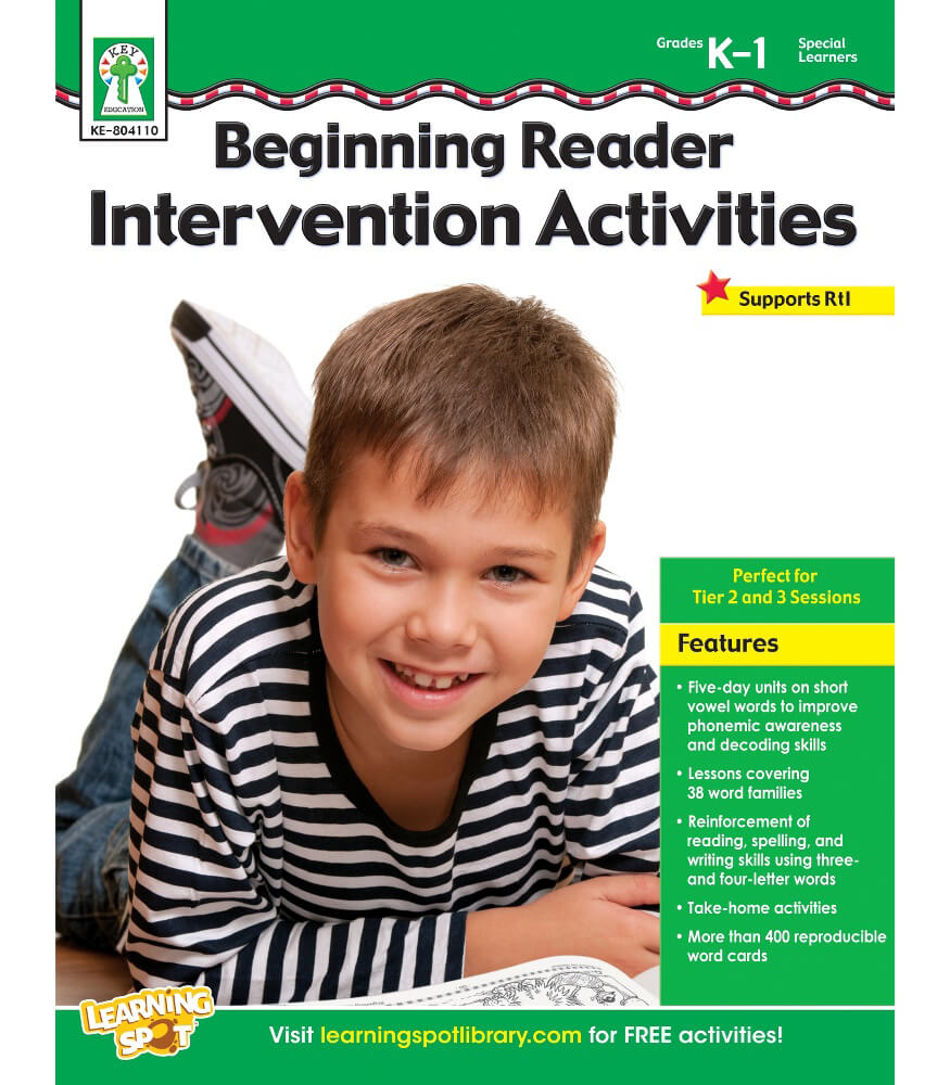 Beginning Reader Intervention Activities Resource Book Product Image