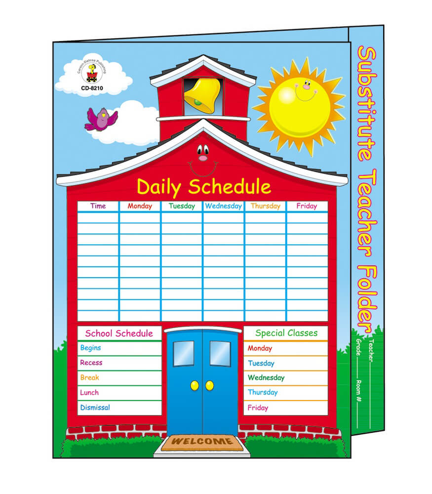 Substitute Teacher Folder Product Image