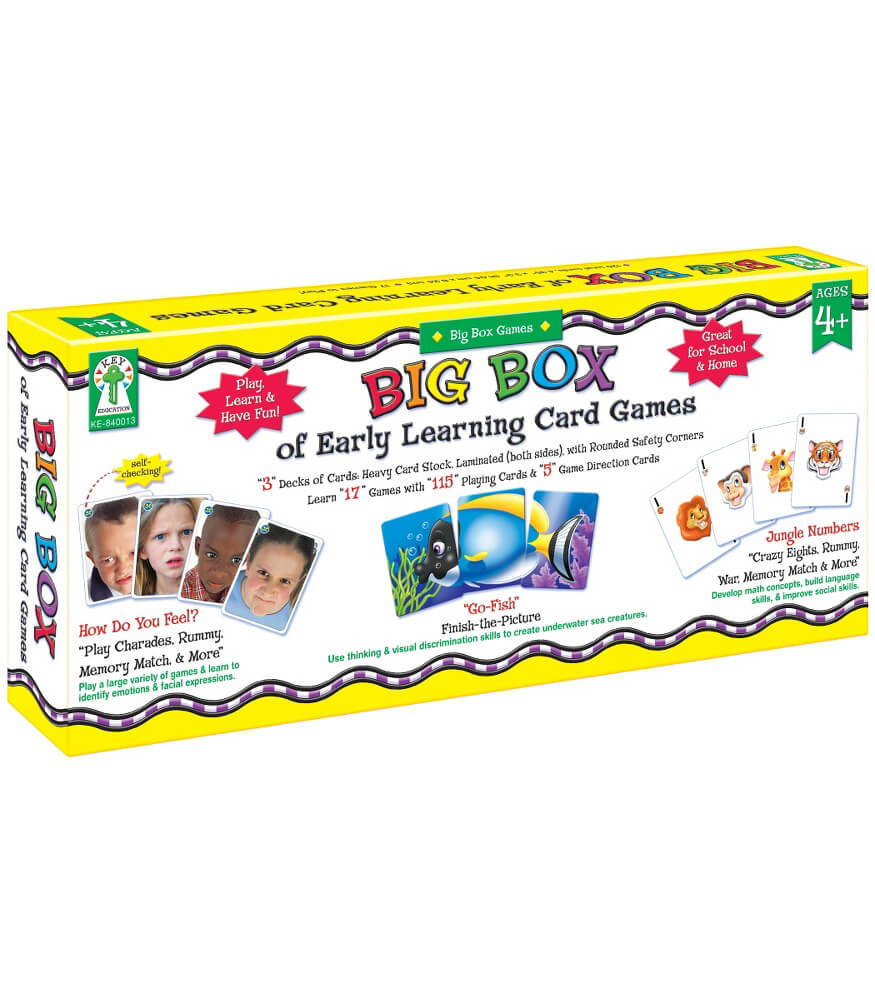 Big Box of Early Learning Card Games Board Game Product Image