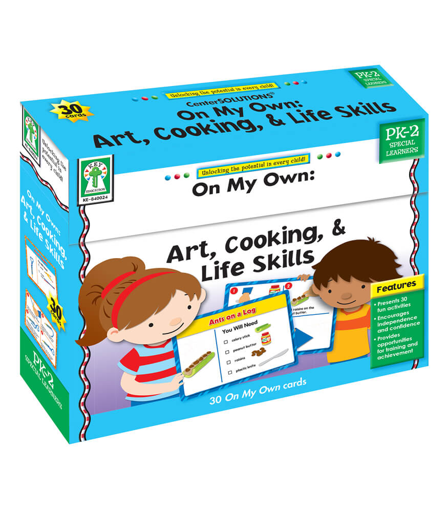 On My Own: Art, Cooking, & Life Skills Learning Cards