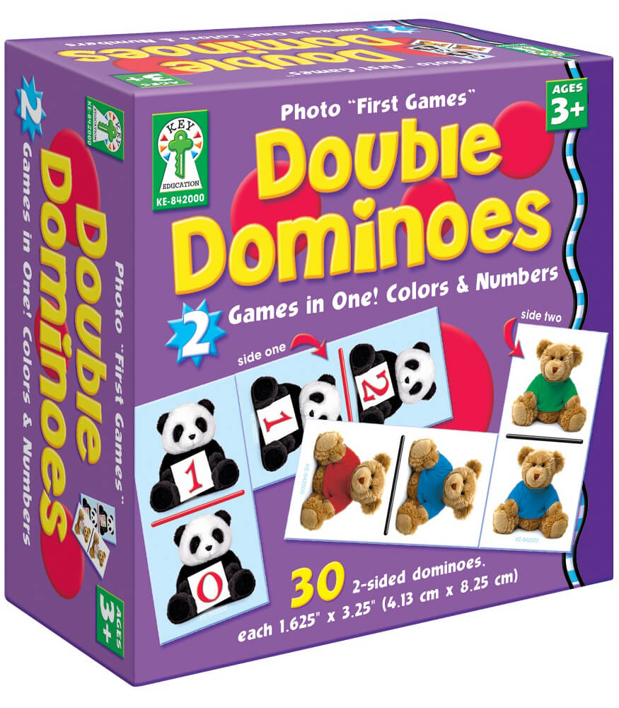 "Photo ""First Games"": Double Dominoes Board Game"