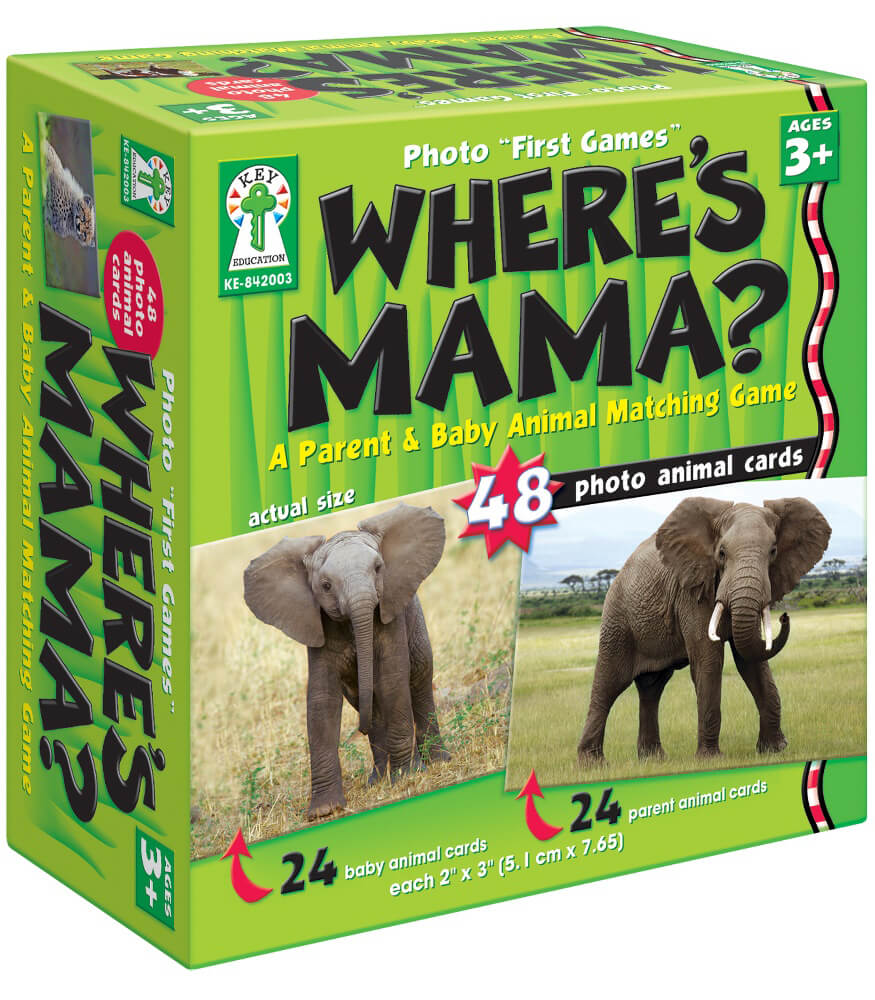 "Photo ""First Games"": Where's Mama? Board Game Product Image"
