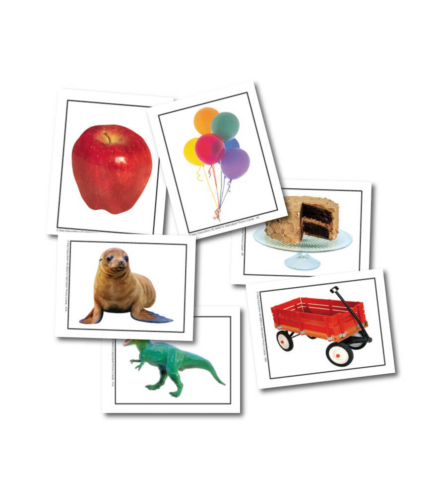 Alphabet Photo Objects Learning Cards Product Image