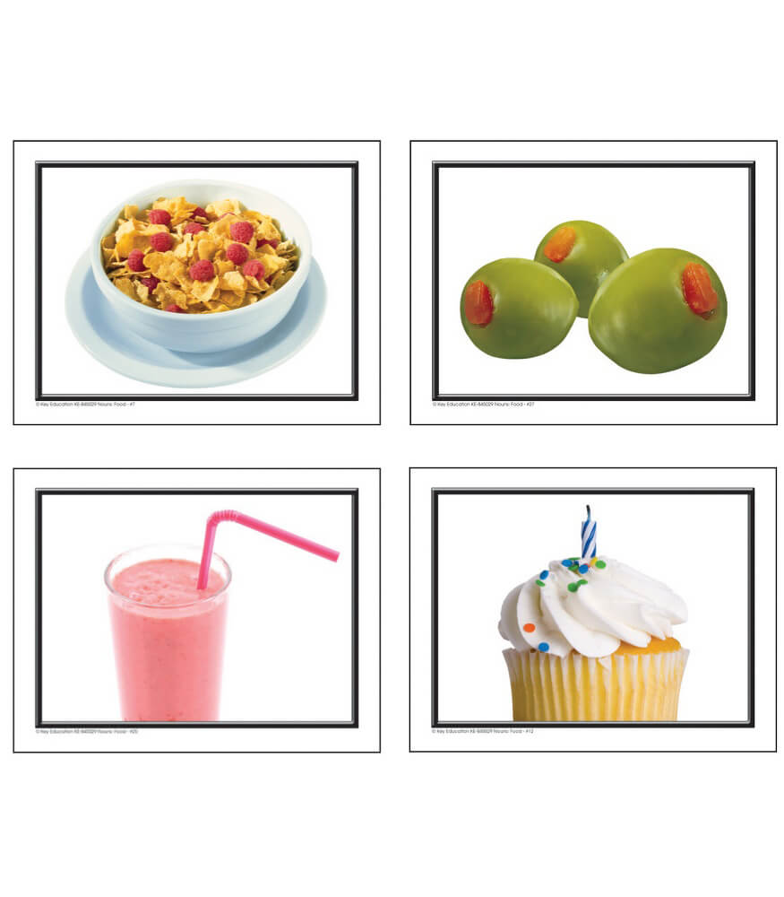Nouns: More Food Learning Cards Product Image