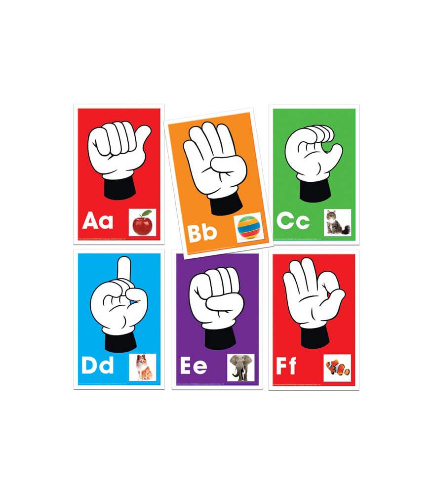 Alphabet: Signs, Letters, Sounds Learning Cards Product Image