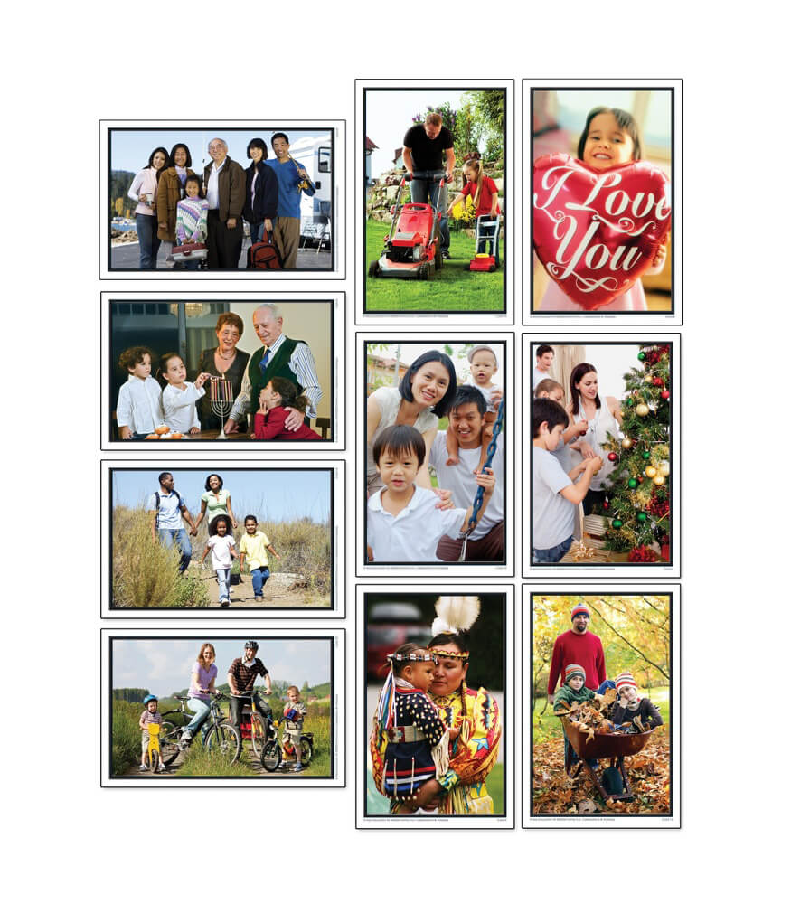 Family Celebrations and Holidays Learning Cards Product Image