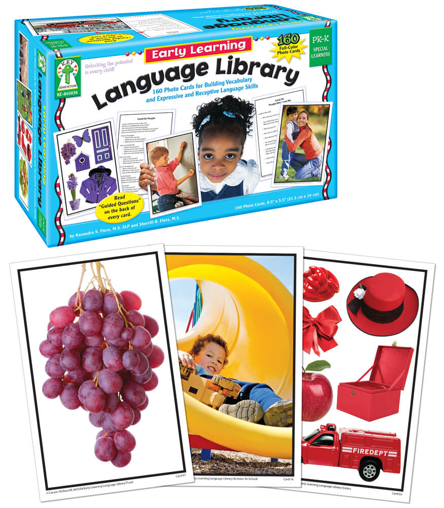 Early Learning: Early Learning Language Library Learning Cards Grade PK-K