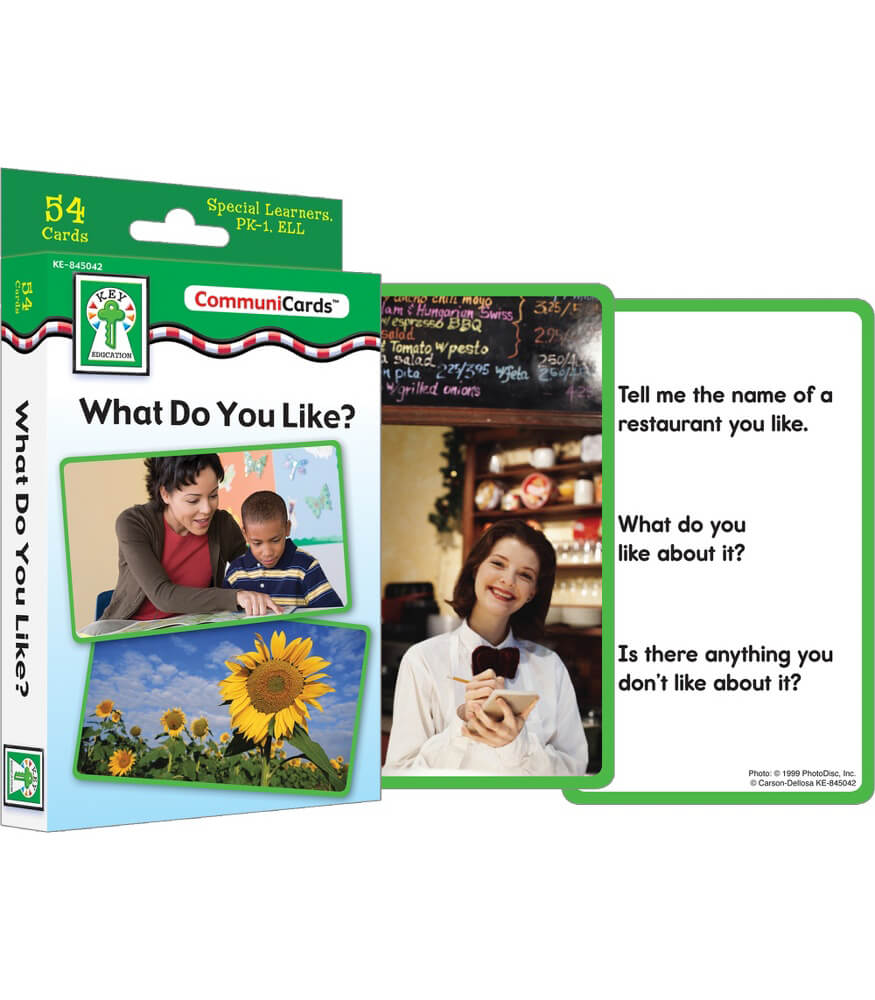 What Do You Like? Learning Cards Product Image