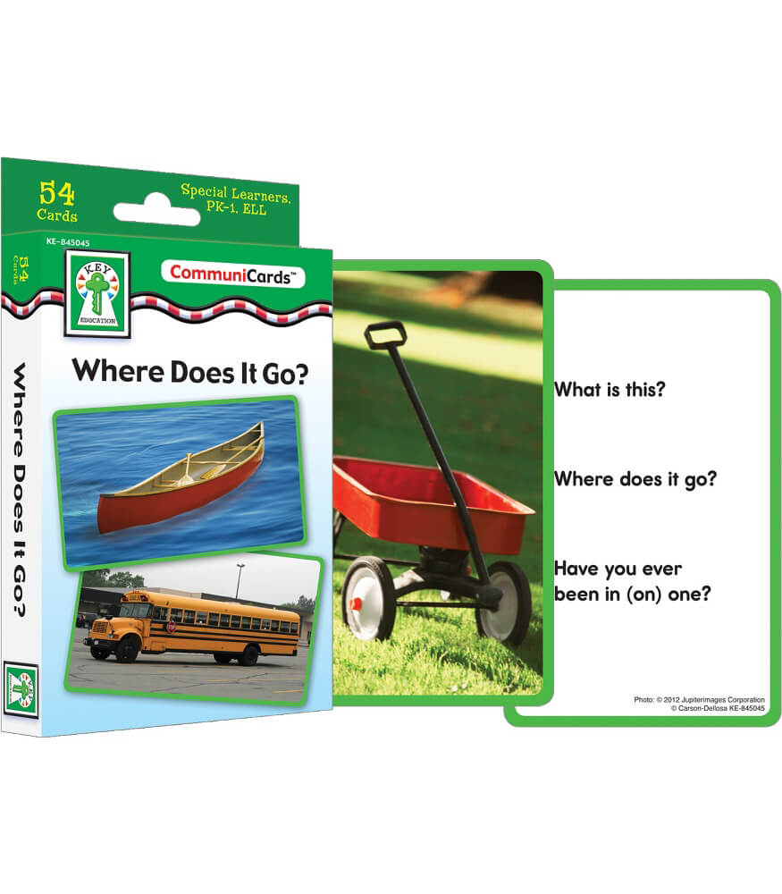 Where Does It Go? Learning Cards Product Image