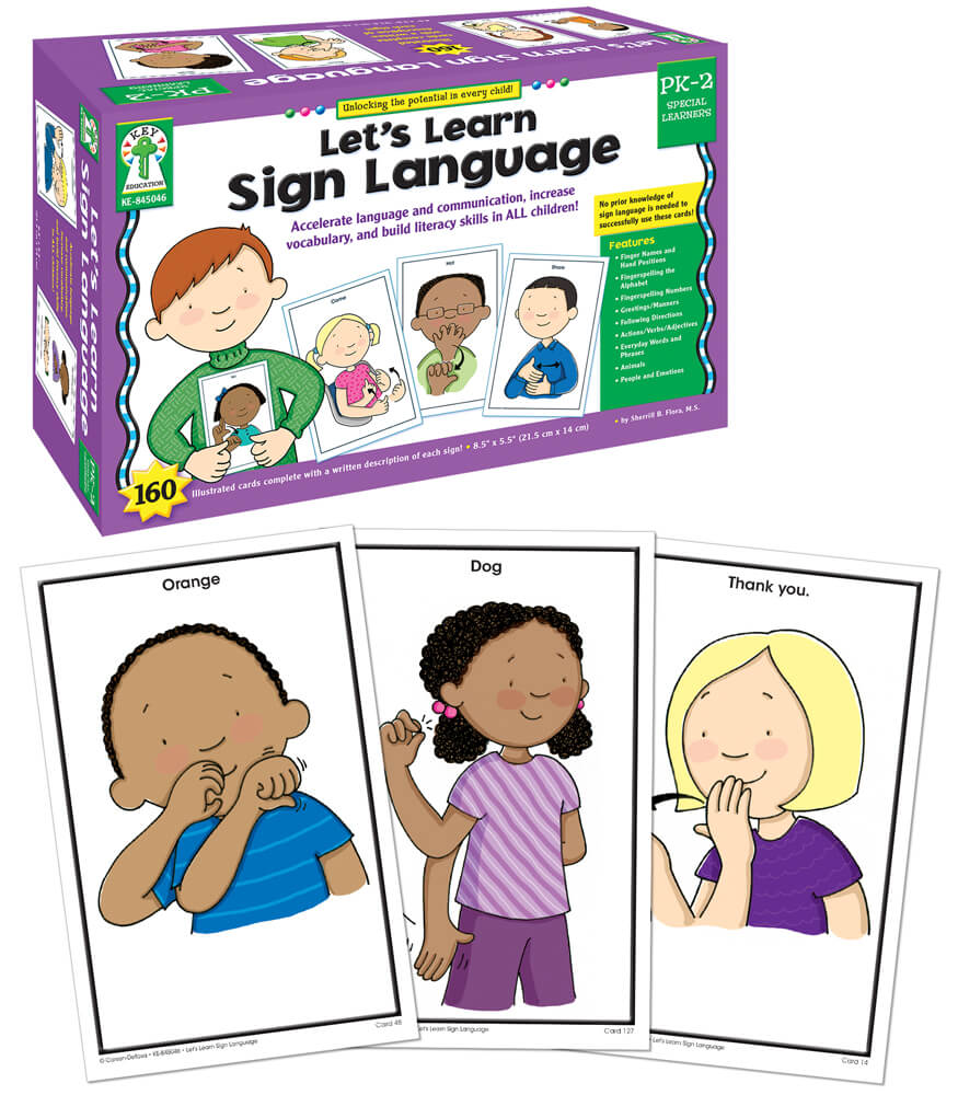 Let's Learn Sign Language Learning Cards Product Image