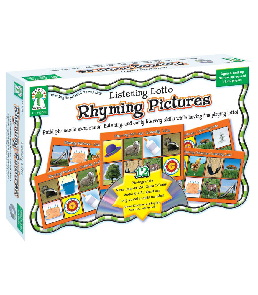 Listening Lotto: Rhyming Pictures Board Game Product Image