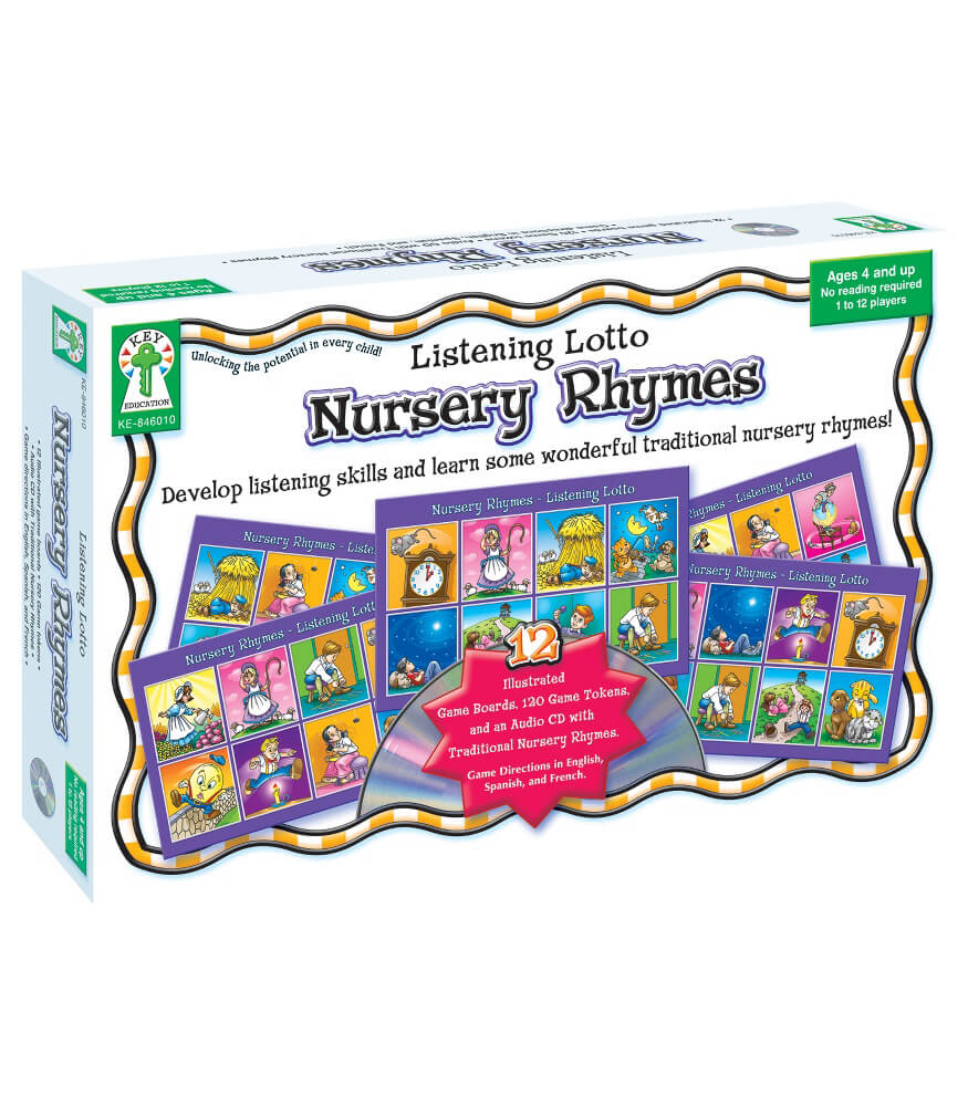 Listening Lotto: Nursery Rhymes Board Game Product Image