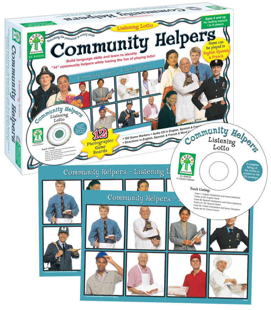 Listening Lotto: Community Helpers Board Game Product Image