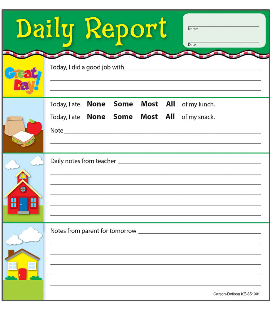 daily report notepad grade pk 2. Black Bedroom Furniture Sets. Home Design Ideas