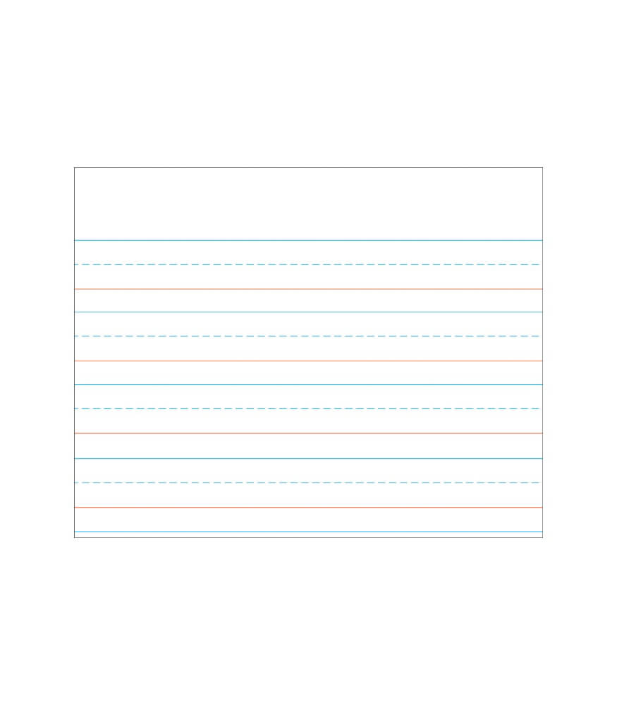 Writing Paper Chart Product Image
