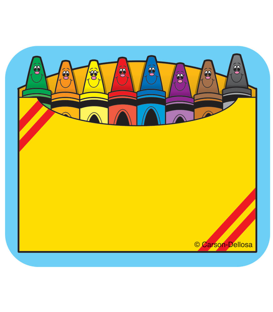 Crayon Box Name Tags Product Image