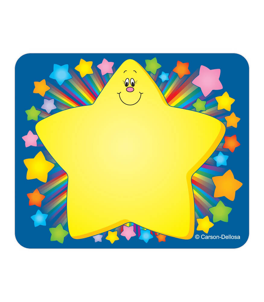 Rainbow Star Name Tags Product Image