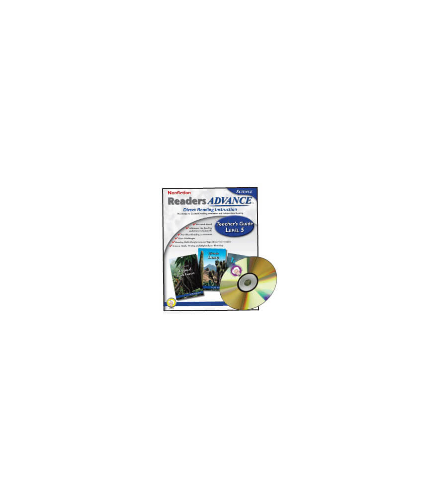 Readers Advance™ Teacher's Guide Level 5 with CD-ROM Book with CD Product Image