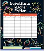 Elementary Substitute Teacher Folder Product Image