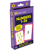Numbers 1 to 26 Flash Cards Product Image