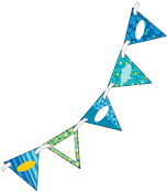 Bubbly Blues Bunting Product Image