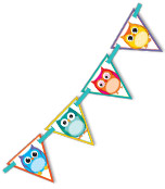 Colorful Owls Bunting Product Image