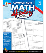 Common Core Math 4 Today Workbook Product Image