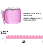 Pink Rolled Scalloped Borders Product Image
