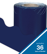 Navy Rolled Scalloped Borders Product Image