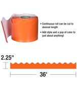 Orange Scalloped Borders Product Image