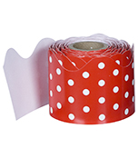 Red & White Dots Scalloped Borders Product Image