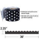 Black & White Dots Scalloped Borders Product Image