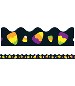 Candy Corn Scalloped Borders Product Image