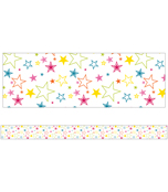 School Pop Mixed Stars Straight Borders Product Image