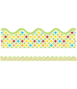 Hipster Stardust Scalloped Borders Product Image