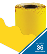 Yellow Rolled Scalloped Borders Product Image