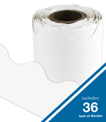 White Rolled Scalloped Borders Product Image