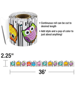 Colorful Owls Scalloped Borders Product Image