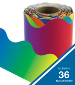 Rainbow Rolled Scalloped Borders Product Image