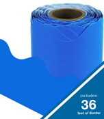 Blue Rolled Scalloped Borders Product Image