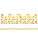 Yellow Brick Scalloped Borders Product Image
