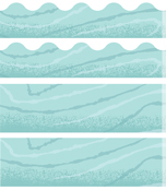 Blue Woodgrain Printable Border Set Product Image
